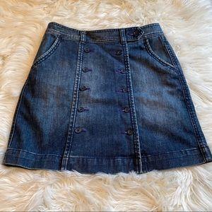 Anthropologie Bica Cheia Demin Skirt Size 6